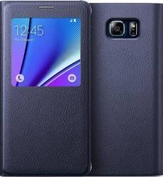 Husa Black Saphire compatibila S-View OEM Samsung Galaxy Note 5 N920 Resigilat Huse Telefoane