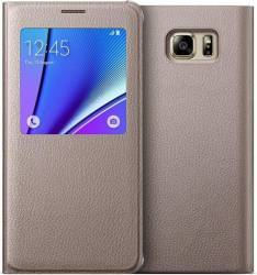 Husa S-View OEM Samsung Galaxy Note 5 N920 Gold