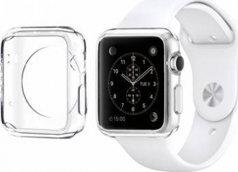 Husa Slim din plastic Apple Watch 38mm Gri