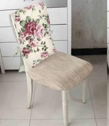 Husa spatar scaun BBC 47x100 cm - Flori Roz Accesorii bucatarie