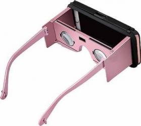 Husa Star VR Case II Cu Ochelari Inteligenti pentru iPhone 6-6s Negru-Roz Gadgeturi