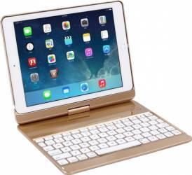 Husa tableta OEM cu tastatura LED Bluetooth iPad Air iPad Air 2 iPad 9.7 2017 Aluminiu Auriu Huse Tablete