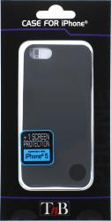 Husa TnB Clipon iPhone 5 + screen protection - black Huse Telefoane