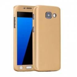 912bbe8d4e7 Husa Samsung Galaxy A5 2017 FullBody Elegance Luxury Gold acoperire  completa 360 grade cu folie de