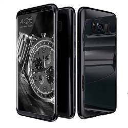 0e38edbaffa Husa Voero Originala Samsung S8 Plus Full Cover 360 + folie Negru Huse  Telefoane