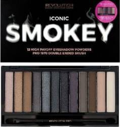 Paleta de culori Makeup Revolution London Iconic - Smokey Make-up ochi