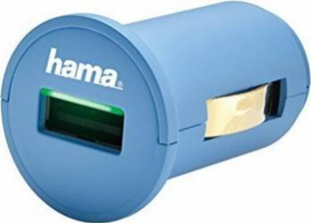 Incarcator adaptor auto Hama Picolino 2.4A Albastru Incarcatoare Auto