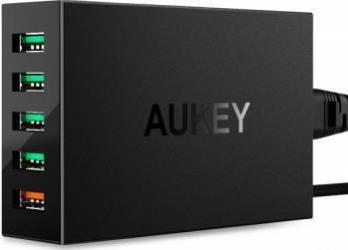 Incarcator Aukey PA-T15 5 sloturi USB 3.0 Negru Incarcatoare Telefoane
