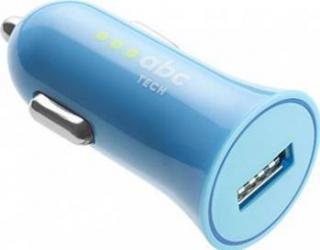 Incarcator Auto ABC Tech USB 1A Albastru Incarcatoare Auto