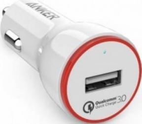 Incarcator Auto Anker PowerDrive+ 1 Qualcomm Quick Charge 3.0 Alb Incarcatoare Auto