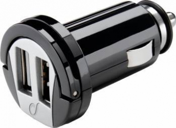 Incarcator Auto Cellular line Dual USB Black