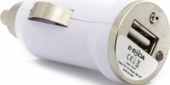 Incarcator Auto E-Boda USB 5V/1A CML 201 Alb