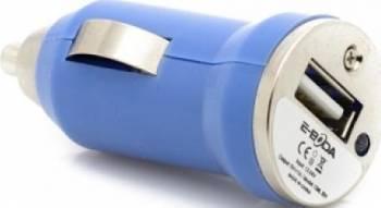Incarcator Auto E-Boda USB 5V/1A CML 201 Albastru Incarcatoare Auto
