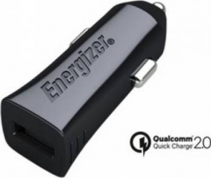 Incarcator Auto Energizer 1 x USB 2.4A Quick Charge 2.0 Negru Incarcatoare Auto