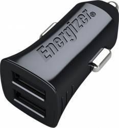 Incarcator Auto Energizer 2 x USB 2.4A + Cablu microUSB Tip-C 1m Negru Incarcatoare Auto