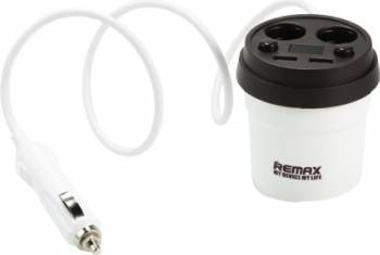 Incarcator auto Remax Coffee Cup Dual USB 3.1A CR-2XP Negru Incarcatoare Auto