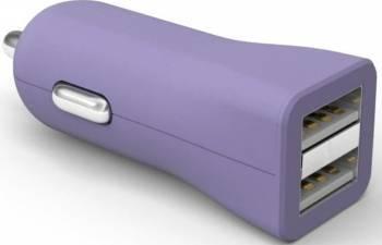 Incarcator auto universal Kit Fresh Dual USB Mov Incarcatoare Auto