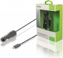 Incarcator auto USB-C 3.0 A negru Sweex  Incarcatoare Auto