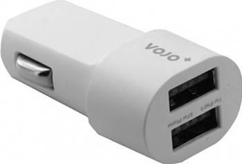 Incarcator Auto Vojo Bullet 2 x USB 2A 1A Alb Incarcatoare Auto