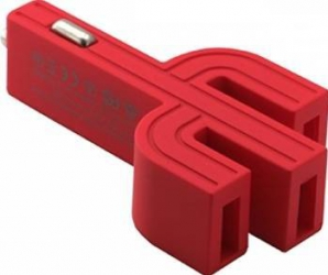Incarcator Auto Vojo Cactus 3 x USB 3.1A Rosu