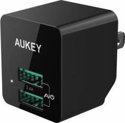 Incarcator de perete Aukey PA-U32 2 USB 2.4A Conectori priza pliabili Negru Incarcatoare Telefoane