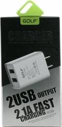 Incarcator de Retea Golf U2 Fast Charge 2xUSB/2.1A Negru Incarcatoare Telefoane
