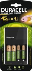 Incarcator Duracell CEF14+2 acumulatori AAK2 1300mAh+2 acumulatori AAAK2 750mAh Acumulatori Baterii Incarcatoare