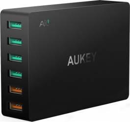 Incarcator rapid Aukey PA-T11 6 sloturi USB 3.0 Negru Incarcatoare Telefoane