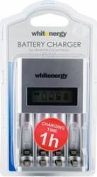Incarcator Rapid Whitenergy LCD 4AA sau AAA Acumulatori Baterii Incarcatoare