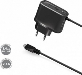 Incarcator retea Celly Universal microUSB 2.1A Black