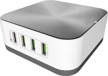 Incarcator Retea Ldnio A8101 Quick Charge 3.0 cu 8 porturi USB 1+7 10A Alb Incarcatoare Telefoane