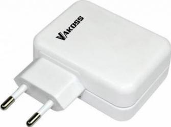 Incarcator retea Vakoss 4xUSB Alb Incarcatoare Telefoane