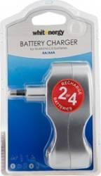 Incarcator Whitenergy 4xAA sau AAA Acumulatori Baterii Incarcatoare