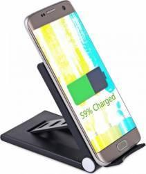 Incarcator wireless OEM universal charging pad stand, Negru Incarcatoare Telefoane