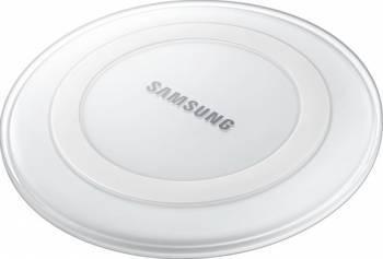 Incarcator wireless Samsung PG920 pentru Galaxy S6 G920 si S6 Edge G925 White Incarcatoare Telefoane
