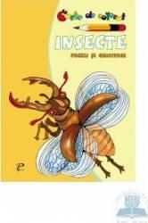 Insecte. Poezii si ghicitori - Carte de colorat