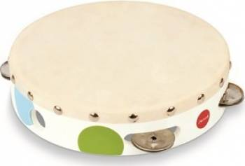 Instrument muzical Janod Confetti Tambourine Jucarii muzicale