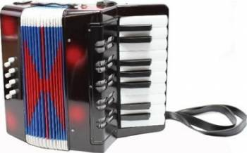 Instrument muzical New Classic Toys Black Accordion Jucarii muzicale