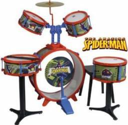 Instrument muzical Reig Musicales Battery Drum Set Spiderman Jucarii muzicale