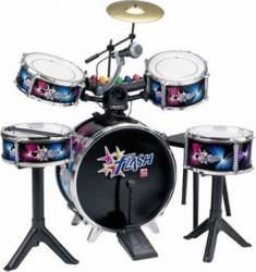 Instrument muzical Reig Musicales Drum Set Flash With Lights and Microphone Jucarii muzicale