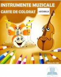 Instrumente muzicale - Carte de colorat