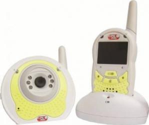 Interfon Primii Pasi Video pentru Camera Copilului Alb Monitorizare bebelusi