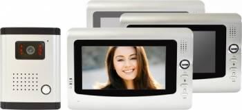 Interfon video PNI DF-926-3 cu 3 monitoare Videointerfoane