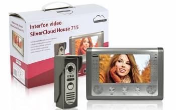Interfon video PNI SilverCloud House 715 cu ecran LCD de 7 inch