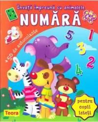 Invata impreuna cu animalele Numara