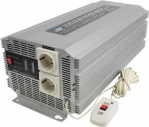 Invertor de tensiune 12V-230V 2500W SCHUKO HQ Compresoare Redresoare and Accesorii