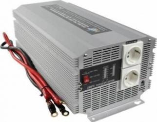 Invertor de tensiune 24V-230V 2500W SCHUKO HQ  Compresoare Redresoare and Accesorii