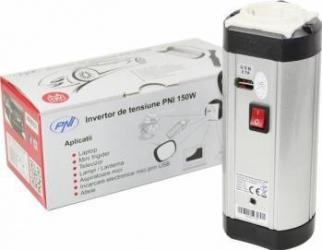 Invertor de Tensiune PNI Alimentare USB 12V Iesire 220V 150W