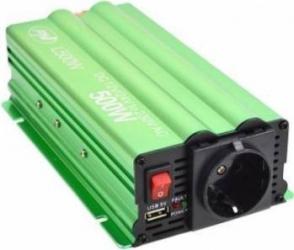 Invertor de tensiune PNI L500W alimentare duala 12V/24V iesire 220V Compresoare Redresoare and Accesorii
