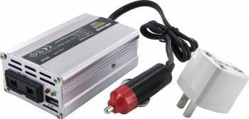 Invertor Whitenergy DC AC de la 12V DC la 230V AC 150W USB mini
